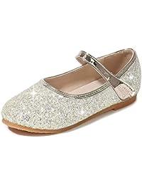 2f0b839c LOBTY Zapatos para Niñas Princesa Zapatos Tacones Altos Baile Zapatos de  Diamantes de Imitación de Niña