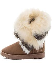 Botas Mujer,Ouneed ® Moda Mujer Botas de nieve Botas de piel Caliente zapatos de nieve