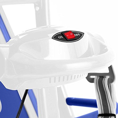 Klarfit Pacemaker FX5 Tapis roulant 1,5 HP 2-12 km/h Massaggiatore di fascia Fitness LCD 12 programmi Corsa Misuratore di impulsi Altoparlante integrato Pieghevole Bianco blu