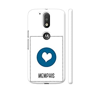 Colorpur Moto G4 Plus Logo Cut Cover - I Love Memphis Printed Back Case