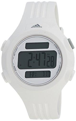 adidas Unisex ADP6087 White Digital Watch With White Polyurethane Band