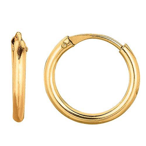 10k-yellow-gold-shiny-endless-round-hoop-earrings-diameter-10mm