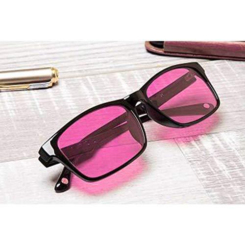 Red Green Colour Blind Glasses für Männer Frauen korrektive Achromatopsie, Rot-Grün-Blindheit, Farbschwäche, Mild Medium Grade, Black Frame,redfullframe