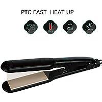 Plancha alisadora de cabello 2 en 1 de cerámica profesional y rizador de pelo rizador de cabello varita húmeda.