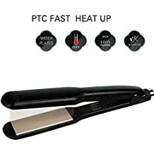 Plancha alisadora de cabello 2 en 1 de cerámica profesional y rizador de pelo rizador de