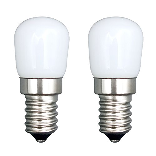 E14 LED Bulb/[2 Pack]SFTlite E14 SES LED Pygmy Light Bulb 1.5W 120LM LED Energy Saving Bulbs With Super Bright Warm White Small Edison Screw LED Lamps [Equivalent to 15W Halogen Bulb - AC 220-240V Non Dimmable] E14 LED Pygmy Bulb for Refrigerator/ Microwave/ Cooker Hood/ Sewing Machine