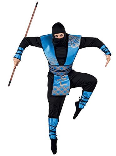 Boland 83558 - traje adulto Ninja Real, tamaño 50/52, multicolor