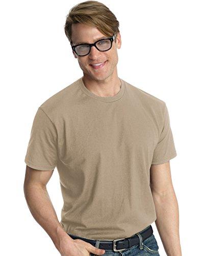 hanes-t-shirt-manches-courtes-homme-vintage-khaki-taille-m