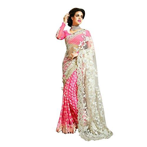 Gajpriya Net Saree (Gs75_White)