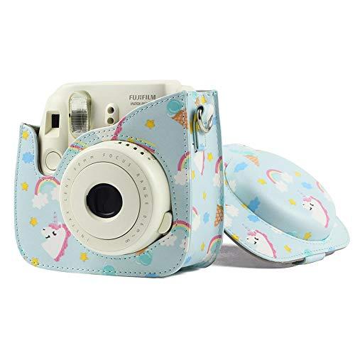 fllyingu Sofortbildkameratasche,Kameratasche Tasche Für Fujifilm Instax Mini 9 Mini 8 Sofortbildkamera, PU-Leder Sofortbildkamera-Schutzhülle Mit Gurt, Instant Camera Zubehör Umhängetasche