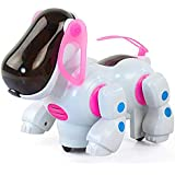BonZeal New Arrival Electronic Intelligent Smart Robot Dog With Lights Music Rotation Toys For Baby Kids Children (Pink)