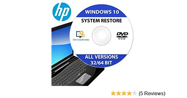 HP Recovery Disc for Windows 10 Home and Professional 32/64 Bit