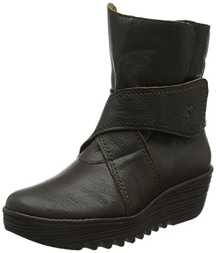 FLY London Damen Rada654fly Kurzschaft Stiefel Grau (Nicotine 001)