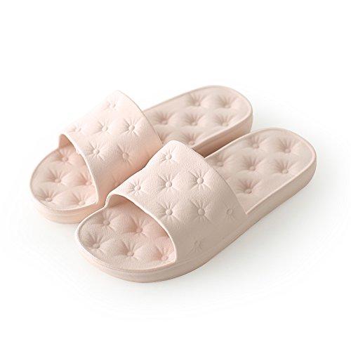 DogHaccd pantofole,Pantofole estate femmina coppie bagno piscina coreano in plastica morbida antiscivolo esposta a pavimento muto Home ciabatte da bagno estate gli amanti Rosa1