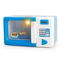 Deniseonuk Microwave Oven Pretend Play Appliance Children Pretend Play Kitchen Toys Household Appliances Toys For Kids Boys Girls Toys
