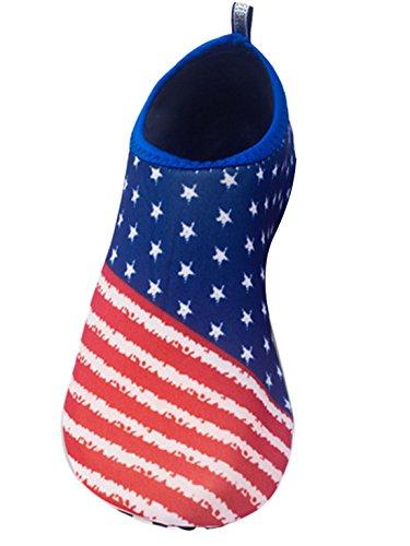 Feoya Unisexe Chaussures de Sport Aquatique Plage Plongée Natation Beach Surf Acquabike Antidérapant Maille Eté Séchage Rapide Femme Homme 11 Couleurs Drap Américain