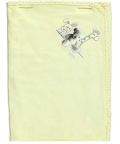 Absorba Teddy Pic Receiving Blanket - yellow, one size