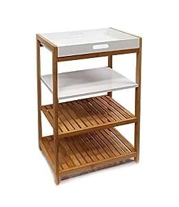 nordic osoltus k chenregal badregal bambus und wei lackiertem holz 112282 k che. Black Bedroom Furniture Sets. Home Design Ideas