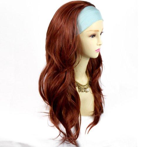 Sexy Kupfer Rot sehr lange 3/4Fall Perücke Haarteil Wellig geschichteten Haar Damen Perücke von Welliges UK