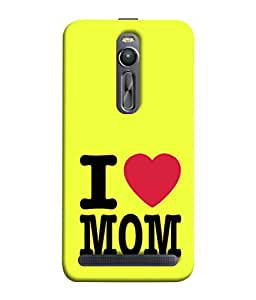 PrintVisa Designer Back Case Cover for Asus Zenfone 2 ZE551ML (Heart Love Mom Mother Amma Maa)