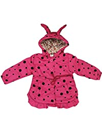 Babeezworld Baby Girl's Babies Stylish Full Sleeve Front Open Button Regular Fit Hooded Winter Wear Party CoatJacket-