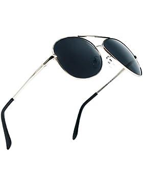 Gafas de Sol Aviador Hombre Mujer Clásico Estilo Marco Metal Lentes Polarizadas - BLDEN