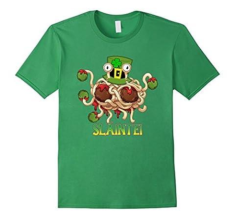 Men's Flying Spaghetti Monster St Patricks Day Irish Pub Shirt 2XL Grass