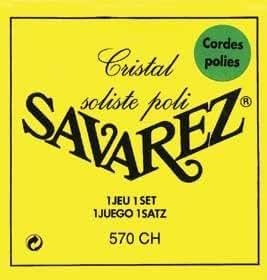 SAVAREZ 570CH CRISTAL SOLISTE POLI TIRANT FORT Cordes Cordes guitare classique