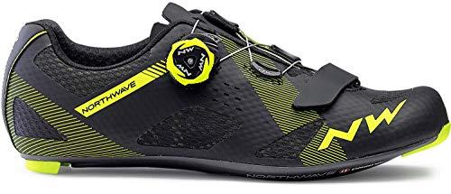 Northwave Storm Carbon Rennrad Fahrrad Schuhe schwarz/gelb 2019: Größe: 48