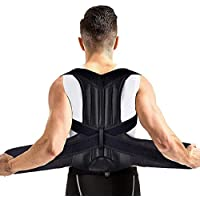 AUSHEN - Cinturón Lumbar para Corrector de Espalda y Espalda para Hombres y Mujeres, cómoda y discreta, Alivio del Dolor, Postura correctora