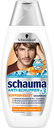 Schauma Anti-Schuppen Koffein Kraft Shampoo, 5er Pack (5 x 400 ml)