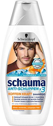 Schwarzkopf Schauma Anti-Schuppen Koffein Kraft Shampoo, 5er Pack (5 x 400 ml)