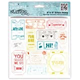 """6x6"""" Ticket Stubs (Square) Papermania Urban Cling Rubber Stamp Print Craft Set"""