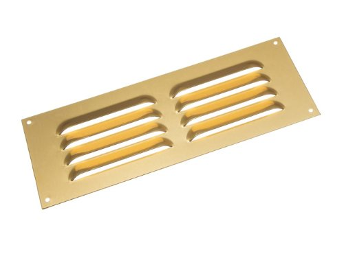 Lot Of 10 Gold-Aluminium Louvre Grille Vent Belüftung Cover 9 X 3 Inch