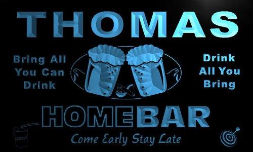 p1012-b Thomas Home Bar Beer Family Last Name Neon Light Sign Barlicht Neonlicht Lichtwerbung