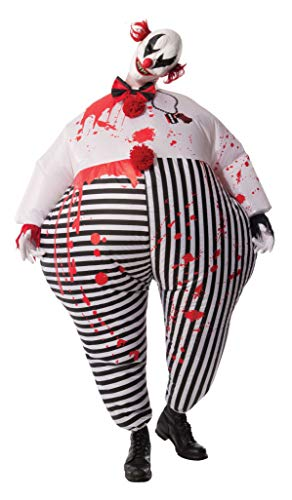 Rubie´s direction – gonfiabile creepy clown halloween horror costume da adulto, taglia unica, multicolore
