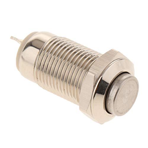 perfk Metall Schalter Taster Button Switch mit Druck Design, aus Edelstahl, ca. 10MM - Hoher Kopf, Sich selbst zu erholen -