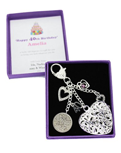Happy 40th Birthday Lucky Sixpence Keepsake Gift