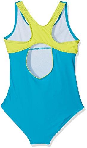 Slazenger Badeanzug für Mädchen, mit klassischen X-Ausschnitt am Rücken, langlebigen Materialien! Der ideale Schwimmanzug fürs Schwimmbad, den See oder das Meer. Passend ab 7-8 Jahre , 9-10 Jahre , 11 - Teal/Lime