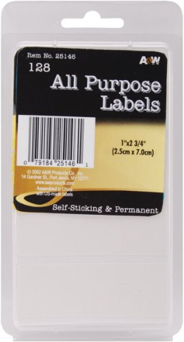 """Etichette bianche All Purpose 1"""" X2.75"""" 128/Pkg"""