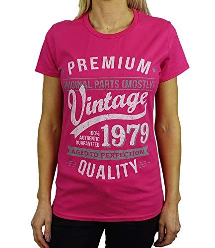 1979 Vintage Year - Aged to Perfection - 40 Geburtstag Frauen Geschenk T-Shirt Hellrosa L