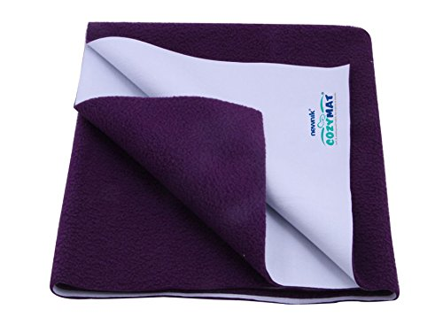 Newnik Cozymat Soft, Water-Proof & Reusable Mat (Size: 140cm X 100cm) Plum, Large