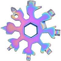 Herramienta multifunción de acero inoxidable Herramienta multifunción 18 en 1 Herramienta de copos de nieve Combinación de tarjetas multifunción portátiles y portátiles Herramienta de apertura de bote