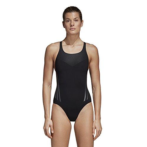 adidas Damen Regular 3-Streifen Placed Print Badeanzug Black/Night Metallic