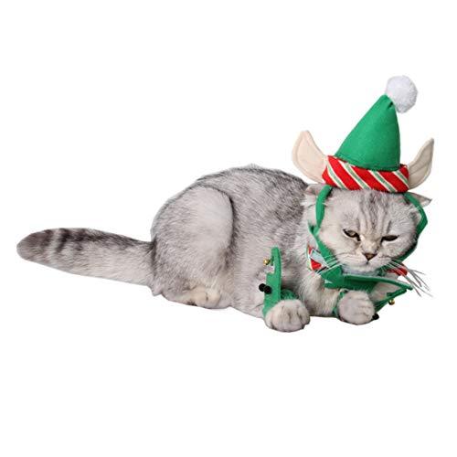 Jasbo Weihnachten Katzen Cute Hüte Puppy Cartoon Hut Lustige Zubehör Outdoor Kopfbedeckung -