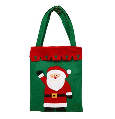 Borsa di stoccaggio classico delle calze di natale del sacchetto del regalo di natale, verde