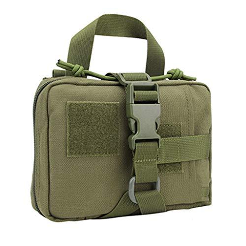 HMMSP Notfalltasche Outdoor Taktische medizinische Ausrüstung Tragbare Survival Emergency Package Nylon medizinische Aufbewahrungstasche/schwarz, braun, grün / 18 X 14 X 5 cm (Color : Green)