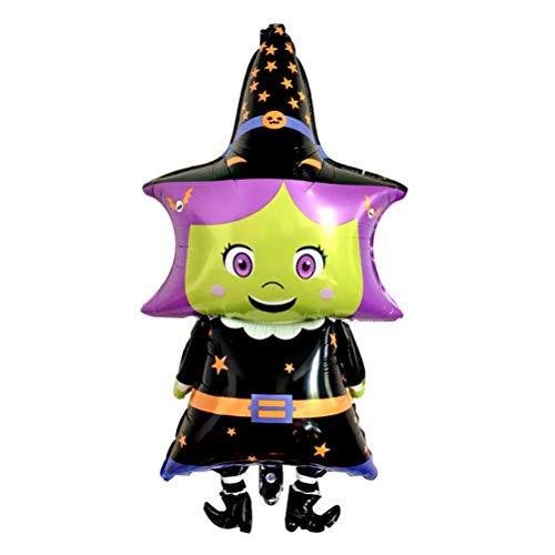 AMOSFUN Halloween-Ballon mit Cartoon-Hexe, Dekoration, Partyzubehör