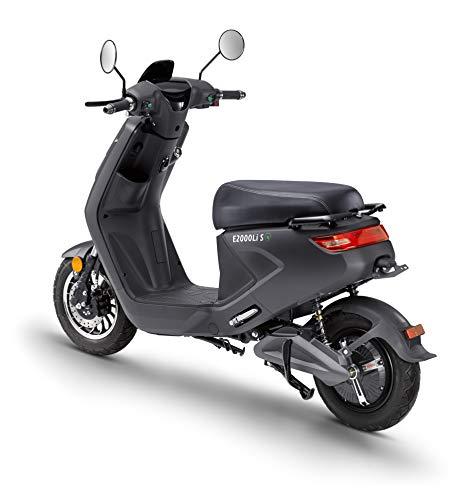 Elektroroller LuXXon E2000LI S – Elektro Scooter mit 2000 Watt Bosch Motor, max. 25 km/h, Reichweite bis zu 60 km