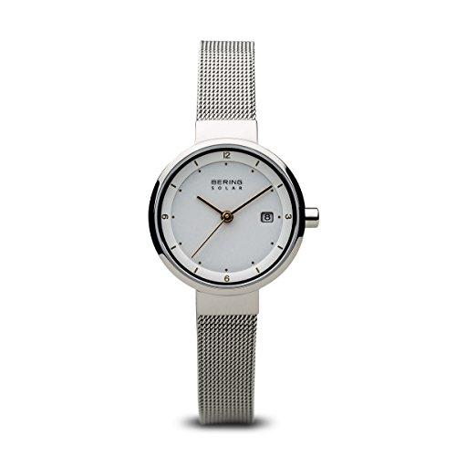 BERING Damen-Armbanduhr Analog Solar Edelstahl 14426-001